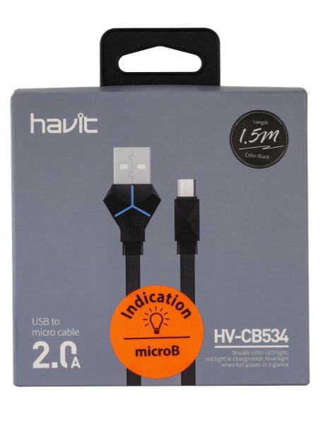 LAIDAS HAVIT CB534 USB A-MICROB, 1.5M (BLACK)
