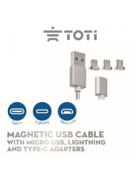 LAIDAS TOTI T-MC 10 Magnetic Micro USB, Lightning and Type-C adapters / White T-MC 10