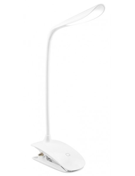 Stalinė lempa ColorWay LED Table Lamp Flexible & Clip with built-in battery White, Table lamp, 3 h,