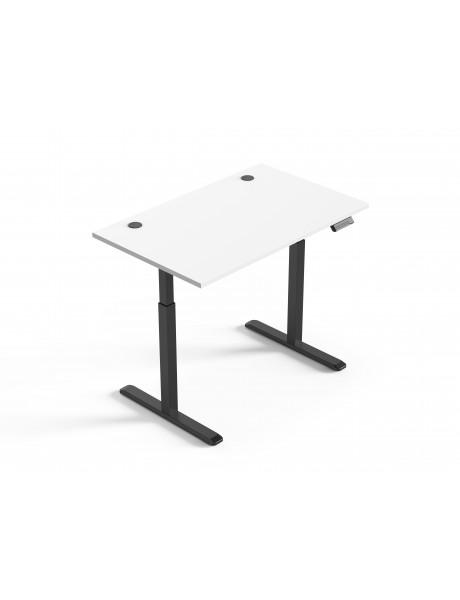 Reguliuojamo aukščio stalas Up Up Bjorn Juodas, Stalviršis M Baltas
