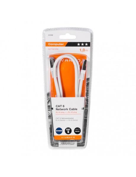 KABELIS VIVANCO CC N5 10 6 Cat6 network cable F/UTP RJ 45 plug <-> RJ 45 plug, 1m 45368