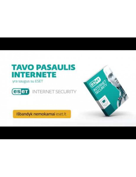 Antivirusinė ESET INTERNET SECURITY BOX 1 KOMP.