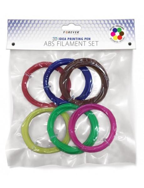 ABS Forever siūlų komplektas 6 spalvos
