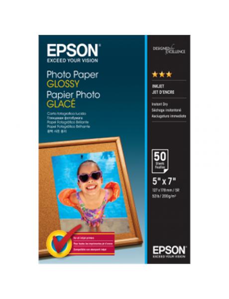 Fotopopierius Epson Photo Paper Glossy 50 sheets, 13 x 18 cm, 200 g/m²