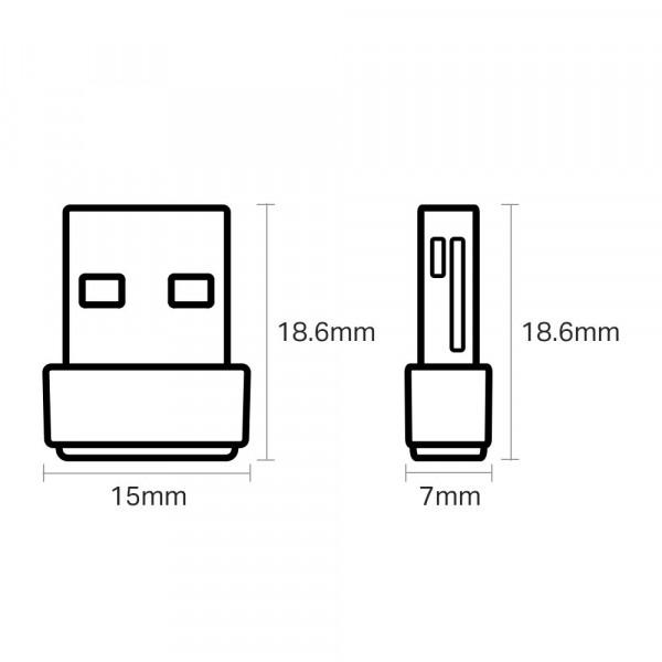 Tinklo adapteris TP-LINK AC600 WiFi Nano USB Adapter ARCHER T2U NANO