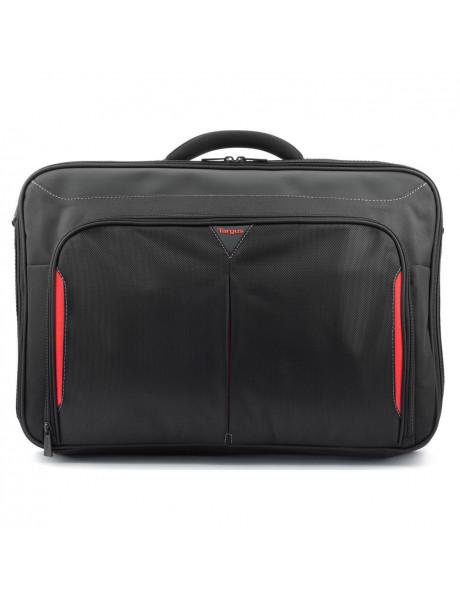 Kompiuterio krepšys Targus Clamshell Laptop Bag Black/Red