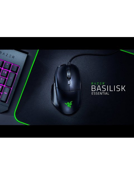 PĖLYTĖ Razer Basilisk Essential, Optical, 6400 DPI, RGB LED light, Gaming Mouse, 1000 Hz,