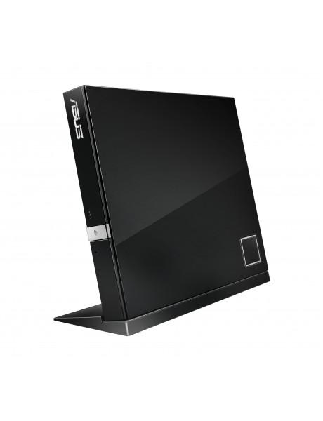 ASUS SBC-06D2X-U External Slim Blu-ray read Drive,  Black, BDXL support, 6X Blu-ray reading speed, USB 2.0 Asus