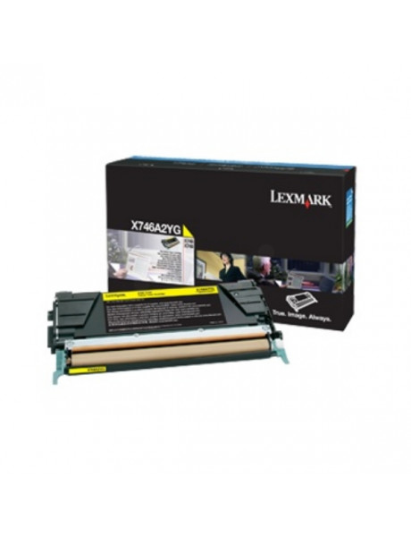 Lexmark X746A3YG Cartridge, Yellow, 7000 pages