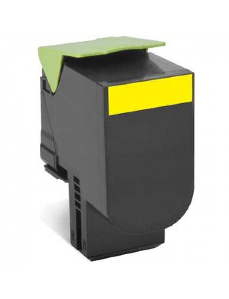 Lexmark 80C2HYE Cartridge, Yellow, 3000 pages