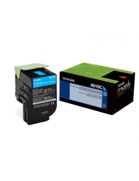 Lexmark 80C2SC0 Cartridge, Cyan, 2000 pages