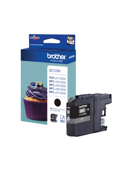 Brother LC123BK Ink Cartridge, Black