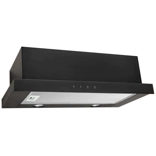 Eleyus Hood TLS S L 14 150 60 GBL Energy efficiency class C, Telescopic, Width 60 cm, 430 m³/h, Sensor control, Black/Black glass, LED