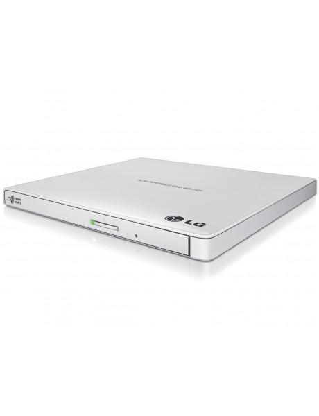 H.L Data Storage Ultra Slim Portable DVD-Writer GP57EW40 Interface USB 2.0, DVD±R/RW, CD read speed 24 x, CD write speed 24 x, White, Desktop/Notebook