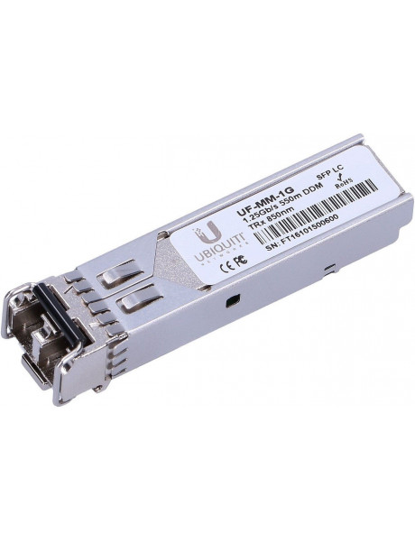 Ubiquiti UF-MM-1G SFP, Multi-Mode Fiber, Dual LC, 10/100/1000 Mbit/s, Wavelength 850 nm, Maximum transfer distance 550 m, (2-Pack), 0 to +70C