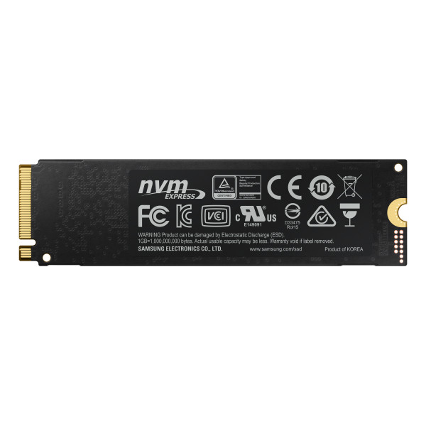 Samsung 970 Evo Plus 250 GB, SSD interface M.2 NVME, Write speed 2300 MB/s, Read speed 3500 MB/s