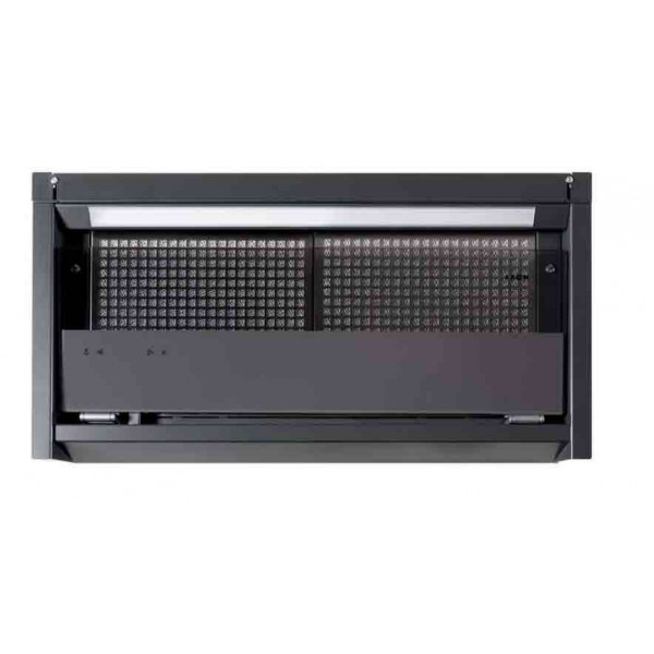 Novy Hood Fusion Pro 8710 Energy efficiency class A+, Telescopic, Width 60 cm, 682 m³/h, Touch control, Anthracite, Led strip
