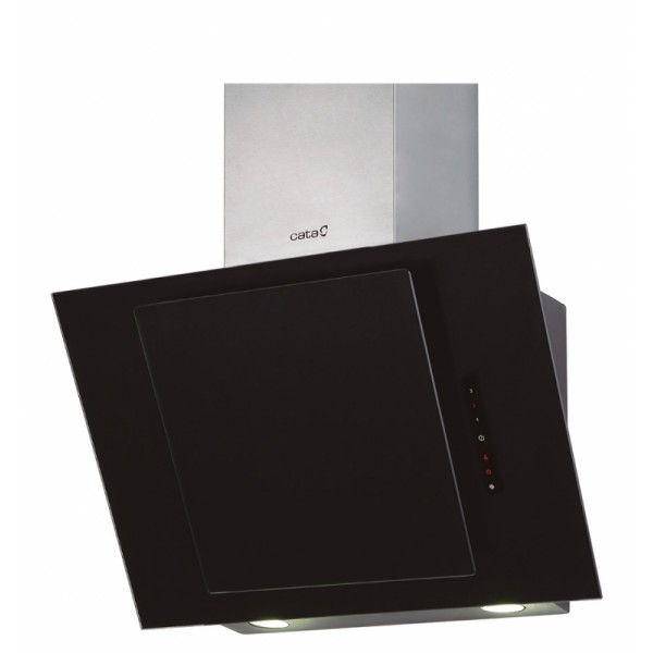 CATA CERES 600 XGBK/L  Wall mounted, Width 60  cm, 560 m³/h, Black Glass, Energy efficiency class E, 63 dB