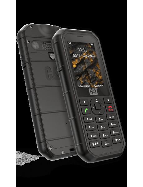 CAT B26 Black, 2.4 , TFT, 240 x 320, 8 MB, 8 MB, microSD, Single SIM, Main camera 2 MP, 1500 mAh