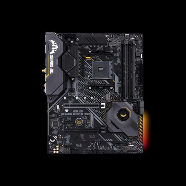 Asus TUF GAMING X570-PLUS (WI-FI) Processor family AMD, Processor socket AM4, DDR4, Memory slots 4, Number of SATA connectors 8, Chipset AMD X, ATX
