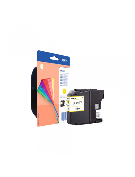 Brother LC-223Y Ink Cartridge, Yellow
