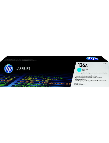 HP 126A for Color LaserJet CP1025/Pro100,Pro200/M275 series Toner Cyan (1.000pages)