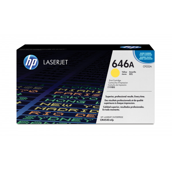 HP Color LaserJet for CM4540 series Toner Yellow (12.500pages)