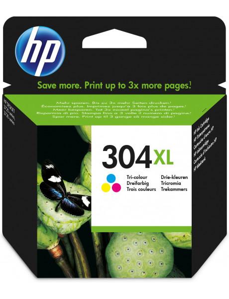 HP 304XL Tri-color Original Ink Cartridge (300 pages)
