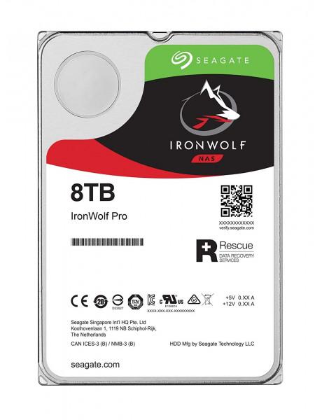 HDD|SEAGATE|IronWolf|8TB|SATA 3.0|256 MB|7200 rpm|Discs/Heads 5/10|3,5|ST8000VN004
