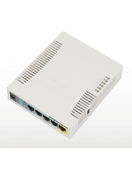 MikroTik RB951UI-2HnD Access Point 802.11n, 2.4, 10/100 Mbit/s, Ethernet LAN (RJ-45) ports 5, MU-MiMO Yes, PoE in/out