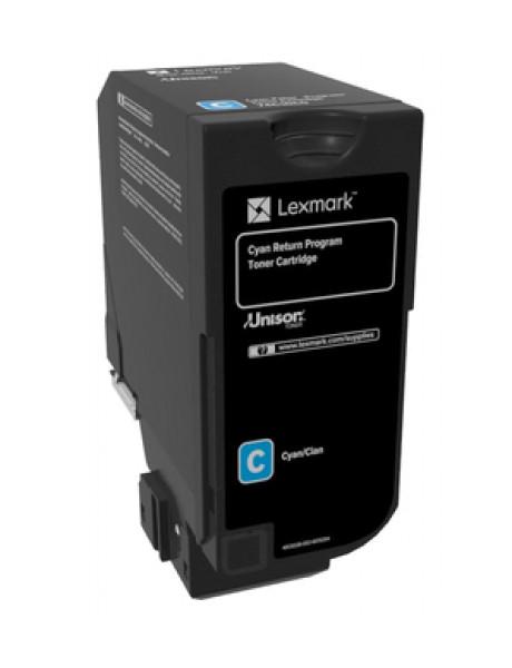 Lexmark Lexmark High Capacity Cyan Return Programme 84C2HC0 Toner Cartridge Lexmark