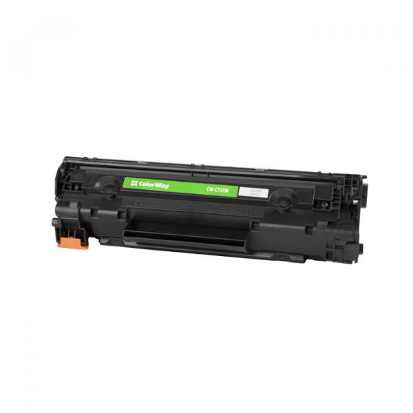 ColorWay Toner Cartridge, Black, Canon 737, HP CF283X