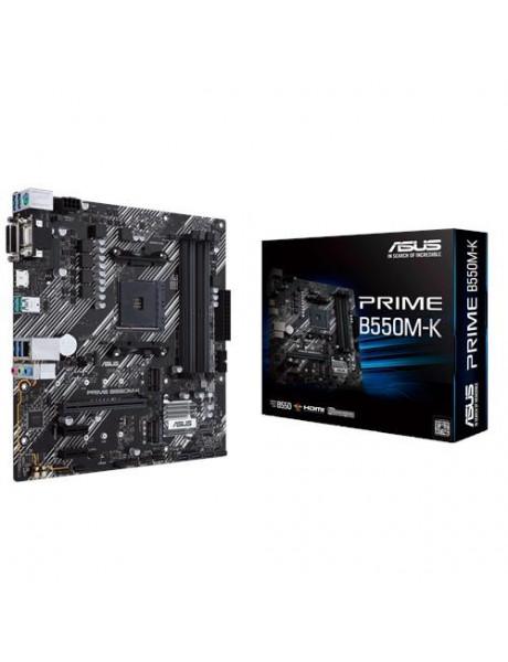 Mainboard ASUS AMD B550 SAM4 MicroATX 2xPCI-Express 3.0 1x 2xM.2 1xPCI-Express 4.0 16x Memory DDR4 Memory slots 4 1x15pin D-sub 1xDVI 1xHDMI 6xUSB 3.2 1xPS/2 1xRJ45 3xAudio port PRIMEB550M-K