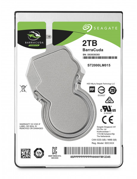 Seagate Barracuda ST2000LM015 2TB 5400 RPM, 2.5 , HDD, SATA, 128 MB