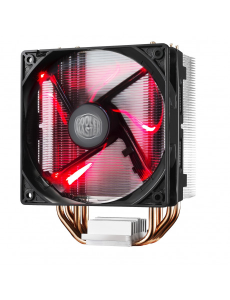 Cooler Master cooler HYPER 212 EVO Cooler Master Hyper 212 RED LED Universal cooler, 4 x Ø6mm heat-pipes, Intel 115X/1366/2011/2066 and AMD AM x/FM x, 120mm PWM fan Universal, Cooler