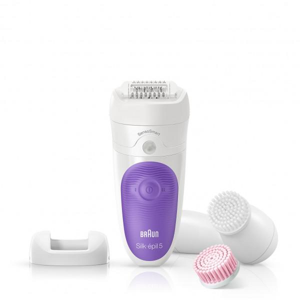 Braun Epilator Silk-épil 5 SensoSmart™ 5-870 Cordless, Number of speeds 2, White/Violet