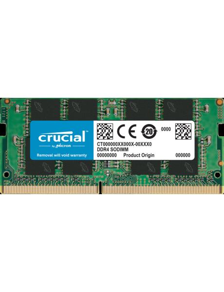 Crucial 16 GB, DDR4, 3200 MHz, Notebook, Registered No, ECC No