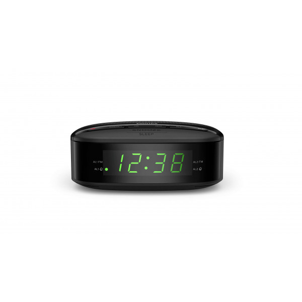 Philips Digital tuning clock radio TAR3205/12 FM tuner, sleep timer, dual alarm, AC powered, battery back-up