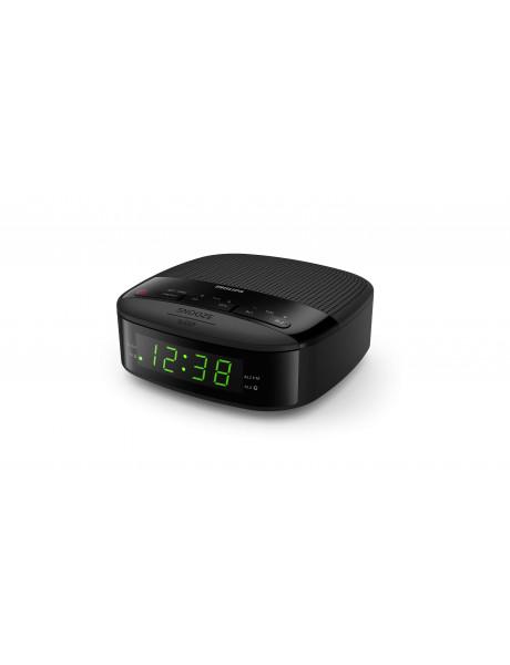 Philips Digital tuning clock radio TAR3205/12 FM tuner, sleep timer, dual alarm, AC powered, battery back-up