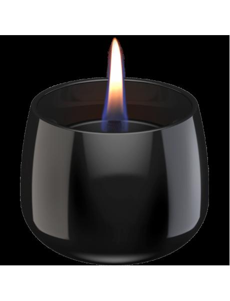 Tenderflame Table burner Crocus 1W Glass Diameter 9.5 cm, Height 7.5 cm, 200 ml, 8 hours, Black