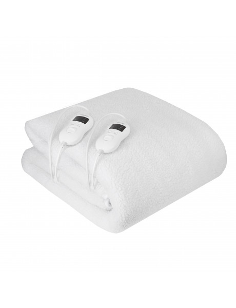 Camry Electirc heating under-blanket with timer CR 7421 Number of heating levels 5, Number of persons 2, Washable, Remote control, Syntetic wood, 2 x 60 W, White