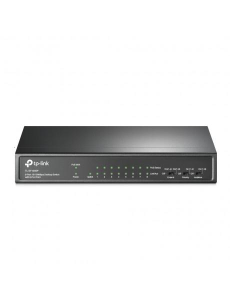 TP-LINK Switch TL-SF1009P Unmanaged, Desktop, 10/100 Mbps (RJ-45) ports quantity 9, PoE+ ports quantity 8
