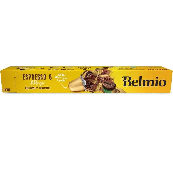 Belmoca Belmio Sleeve Espresso Allegro Coffee Capsules for Nespresso coffee machines, 10 capsules, Coffee strength 6/12, 100 % Arabica, 52 g