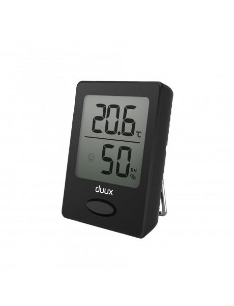 Duux Sense Hygrometer + Thermometer, Black, LCD display