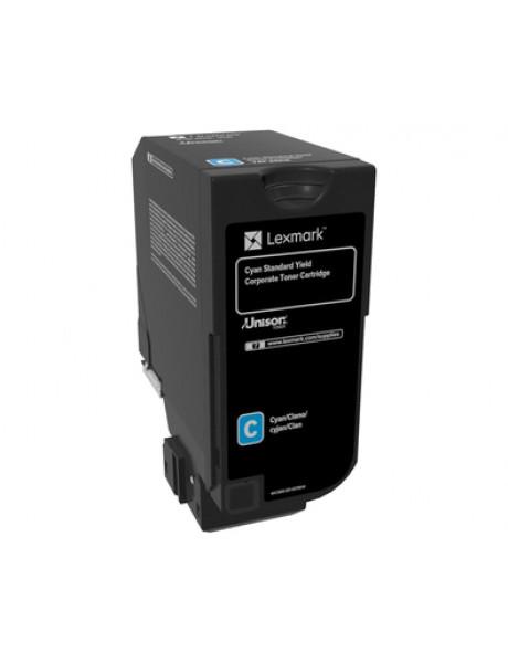 Lexmark Corporate 74C2SCE Laser Toner Cartridge, Cyan