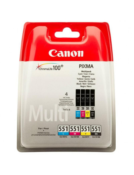 Canon Cartridge CLI-551 C/M/Y/BK Multipack  Ink, Black, Cyan, Magenta, Yellow