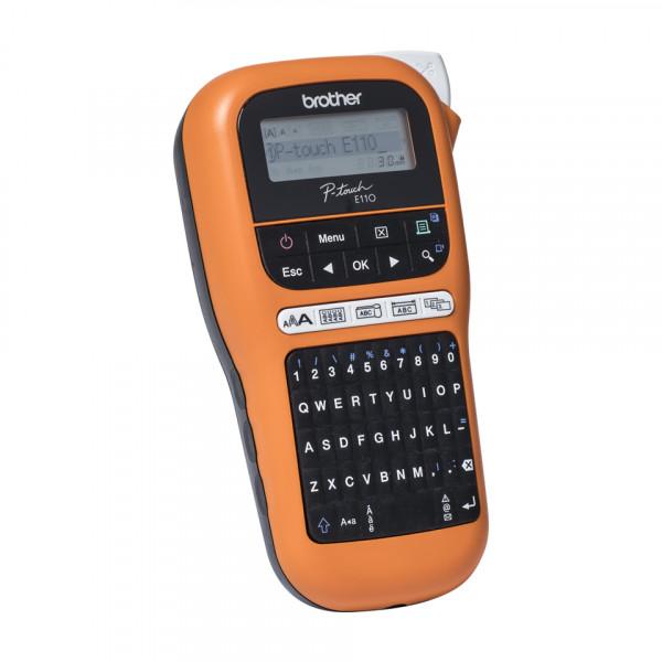 Brother Industrial durable label maker PTE110VP Thermal, Label Printer, Orange