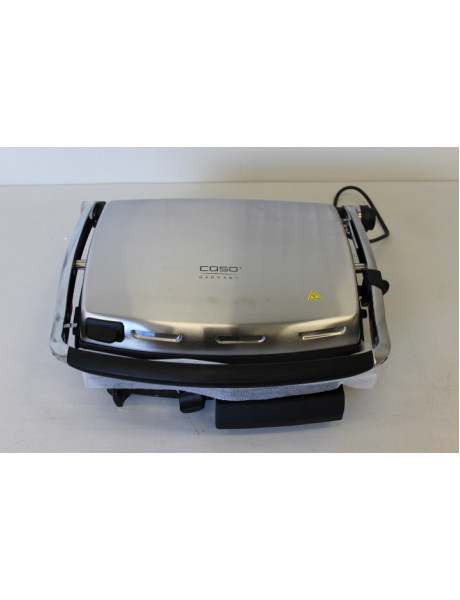 SALE OUT. Caso BG2000 Contact grill, Non-stick grill/griddle plate, Timer, 2000W, Stainless steel/Black Caso Contact, 2000 W, Stainless steel, REFURBISHED, SCRATCHED