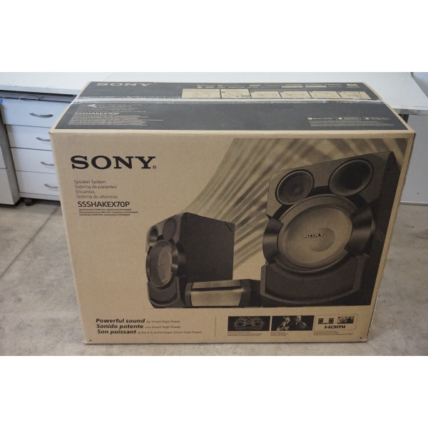 SALE OUT. Sony SSSHAKEX70P Speakers for Shake X70 system / DAMAGED PACKAGING, MARK ON SIDE Sony Speakers for Shake X70 system SSSHAKEX70P 2400 W, NFC, Black