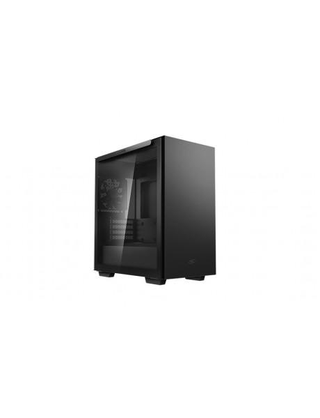Deepcool MACUBE 110 Black, ATX, 4, USB3.0x2; Audiox1, ABS+SPCC+Tempered Glass, 1×120mm DC fan